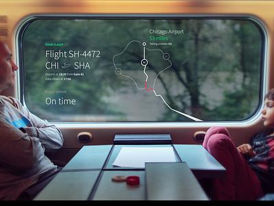 Smart Display / Train in flight entertainment ui interface window train interactive hmi design screen technology digital future user interface digital display transparent oled