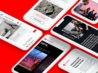 Swissnex.org Site ui design interactive interface user interface web design