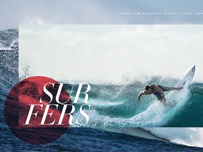 Surfing Website web design website surfer photography surfing design interactive interface ui