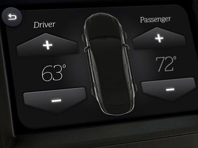 Climate Control - Car Interface ui automotive car mmi hmi