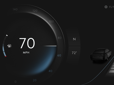 Digital instrument panel animation motion graphics touchscreen instrument panel phev ev hmi digital dashboard interface car automotive