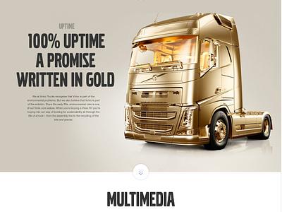 Volvo Trucks Global Website design car automotive interactive interface ui