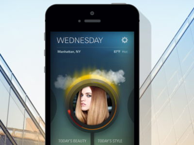 Suave Beauty 'Weather Report' App design interactive app design ios app interface ui