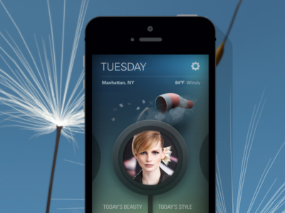 Suave Beauty 'Weather Report' App