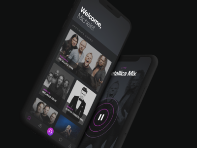 Mixhalo : Live Audio music music app interactive interface ui app design ios