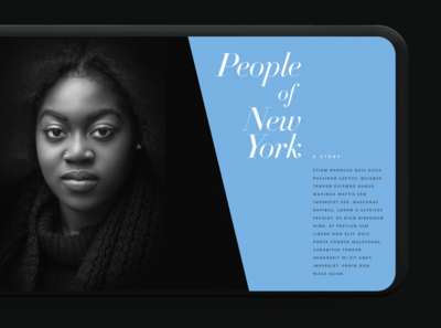 Manhattan Stories design interactive interface ui editorial design