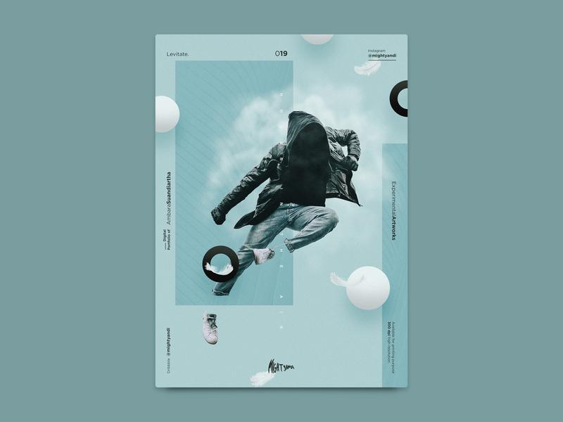 Levitate - An experimental artworks artwork modern abstract visual gradient mood illustration art poster experimental