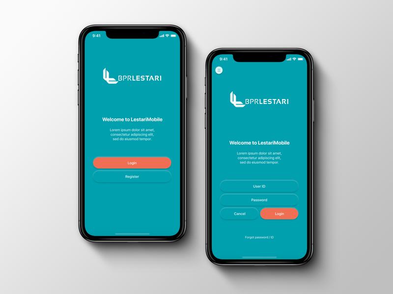 Lestari Bank App design ui design ui mobile ui mobile app mobile experimental brand design creative concept color branding art app design app