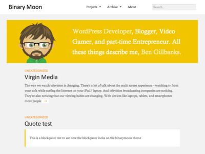 Binarymoon Redesign redesign website flat minimal vector