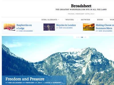 Dribbble Broadsheet Full Size wordpress theme newspaper white clean