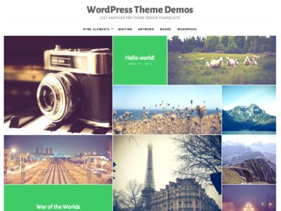 Puzzle - Visual WordPress Theme wordpress theme wordpress white grid masonry