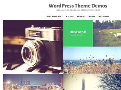 Puzzle - Visual WordPress Theme - Full Size wordpress white photo masonry grid wordpress theme