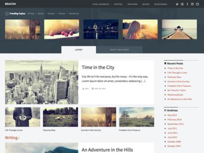 Beacon - WordPress Theme wordpress theme magazine blue grey