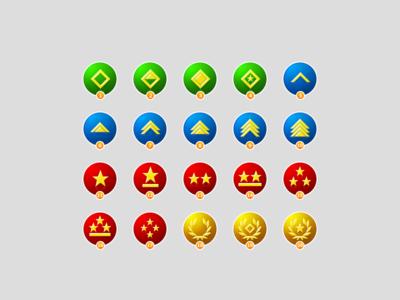 Rank Badges rank badges awards status green blue red military