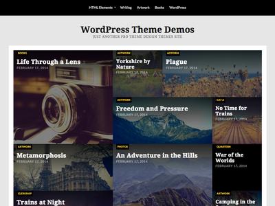 Riddle WordPress Theme wordpress theme masonry mockup