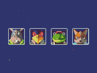 Starfox - Pixel Dailies tribute nintendo game video game pixel art starfox
