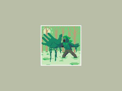 Swamp Monster pixels pixel art