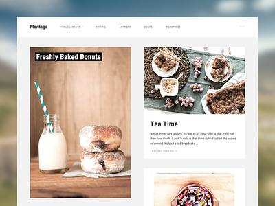 Montage - WordPress Photography Theme css photography wordpress theme web design wordpress