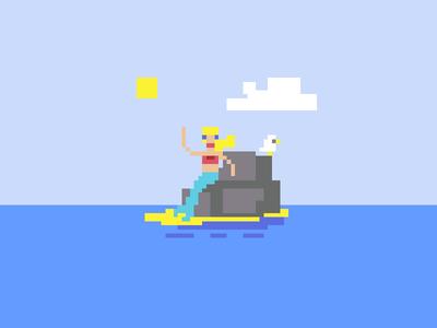 Pixel Dailies - Mermaid pixels pixel art mermaid