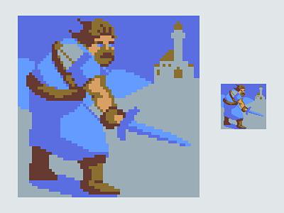 6 Color Swordsman retro low colour swordsman pixels pixel art