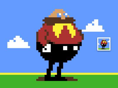 Dr. Robotnik (Eggman) retro games sonic robotnik pixels pixel art