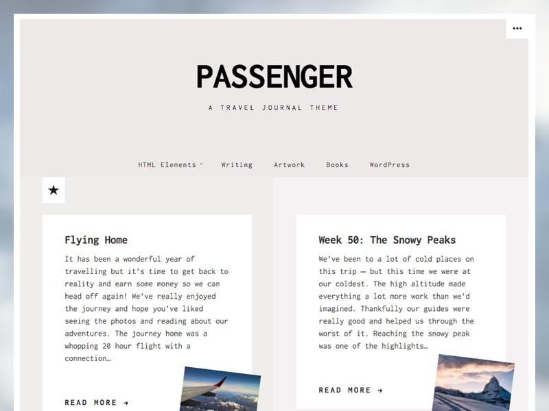 Passenger - WordPress Theme passenger greys muted minimal wordpress theme wordpress
