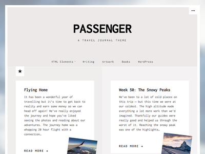 Passenger - WordPress Theme