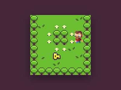 Pixel Adventure Game for #LowRezJam game html5 phaser pixels pixel art rpg low rez jam