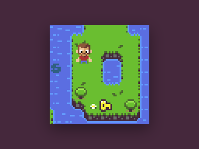 Pixel Adventure Game, Island, for #LowRexJam video game game lowrezjam adventure pixel pixel art