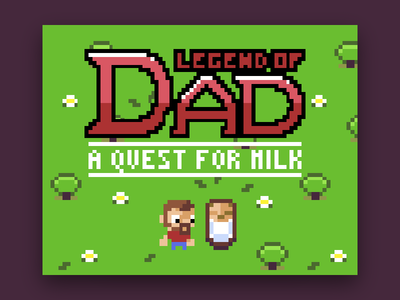 Legend of Dad html5 game pixel art