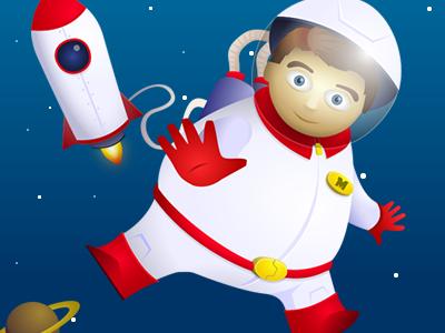 Spaceman spaceman vector cartoon