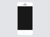 Flat iPhone 5S Silver