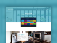Home automation company website - Domotic section