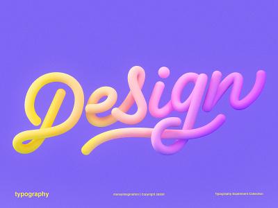 Design | 3D Lettering cinema 4d design 3dlettering graphic design typography monoline photoshop design trends details love render text cinema4d 3drender colorful experiment maney imagination lettering 3d
