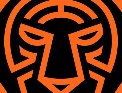 Tiger Logo Close-up tiger logo brand maney imagination vector illustration design logo design monoline logo tiger