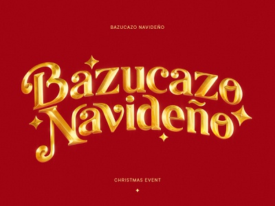 Christmas Event | Dominican Republic | 3D Typography logodesign anthony santos photoshop details maney imagination navidad christmas gold 3d lettering 3d typography bazucazo navideño