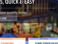 Homepage Concept for Quantity Surveyor