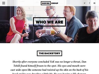 Inspire Group Website (responsive)