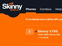 Skinny Mobile NZ - Website Interface Development