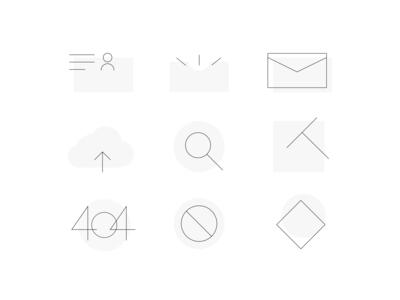 Default Page Icons Design