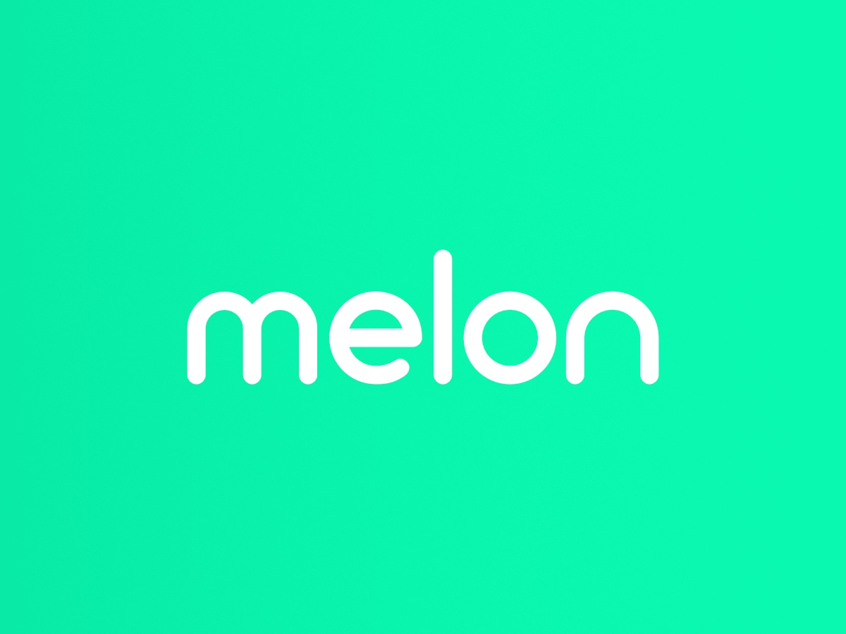 melon os minimal lettering identity brand typography flat branding logo graphic  design vector design