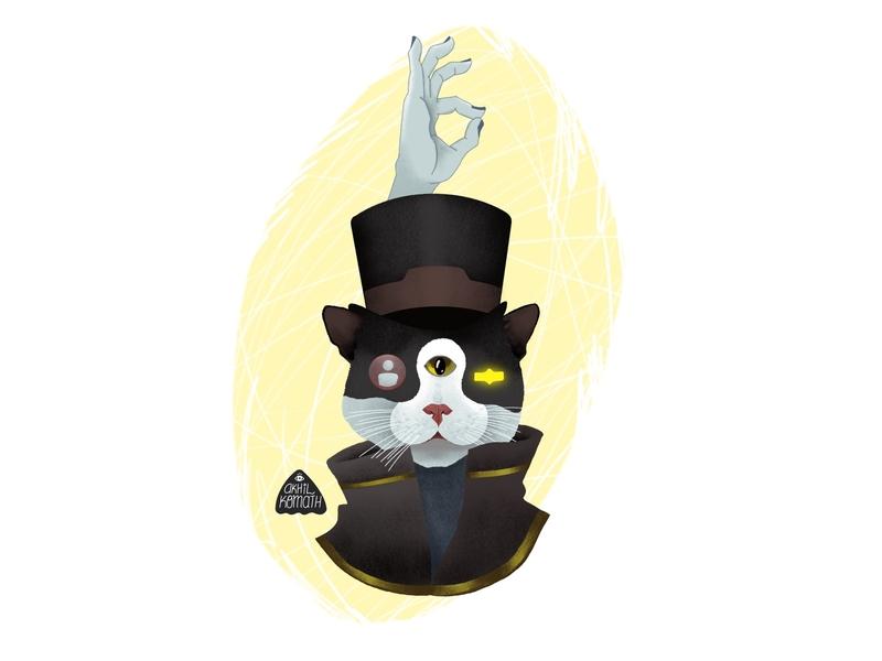 Wise Cat Mr Grimalkin