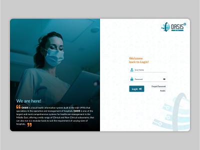 Oasis Mini Login Page design css 3 ui design web design graphic design login page login ui