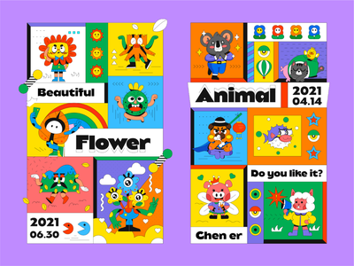 INTERESTING FRIENDS-13 cartoon sticker app people cute dribbble art design illustration