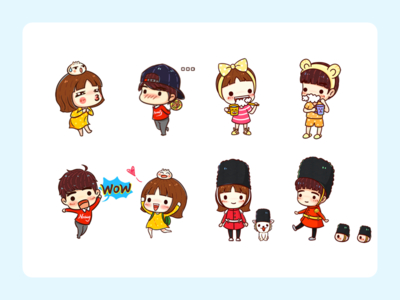 GIGI AND CHAN--Stickers--3
