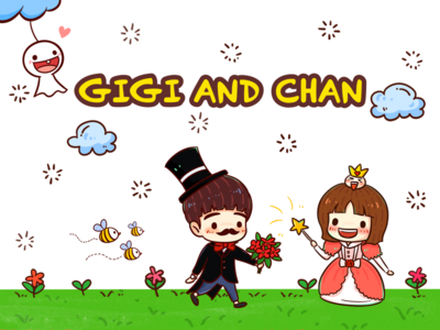 GIGI AND CHAN--Stickers--1