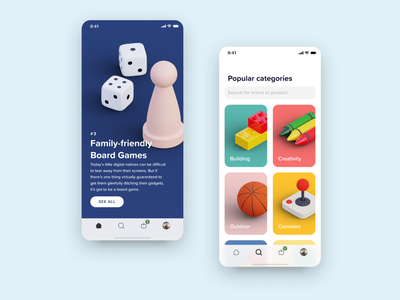 3d Icons for a Toys App board games isometric art iconset category icons toys iphone x design ui isometric blender 3d model 3d