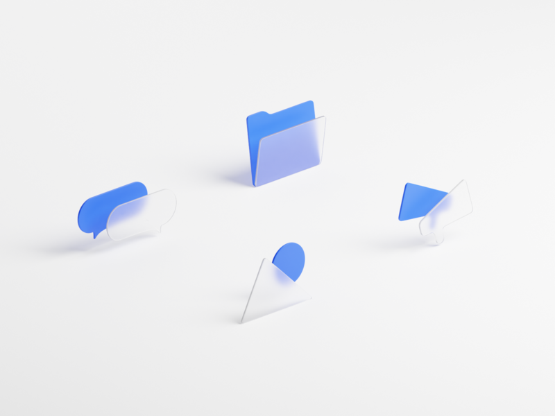 Empty State Icons icons pack icons set relay message iconset collection files icons isometric blender 3d model 3d