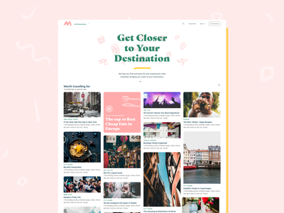Meloa: Get Closer to Your Destination brand design webdesign website travel planning booking ux ui experience eat stay hotel destination food inspiration