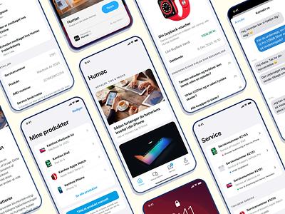 Humac App service chatbot chat notifications buy back apple app ui mac